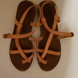 Tan strappy sandles